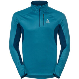 Odlo Blaze ZW Ceramiwarm 1/2 Zip Midlayer Herren poseidon-blue jewel-stripes